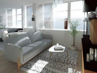 Rénovation complète Appartement Scandinave:  de style  par GRAM Architecture