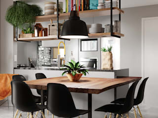 Comedores de estilo industrial por Fabíola Escobar - Pratique Arquitetura