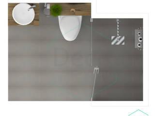 Render principal del proyecto/Baño residencia Itagüí/ vista superior: Baños de estilo  por Decó ambientes a la medida