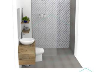 Decó ambientes a la medida Scandinavian style bathroom Multicolored