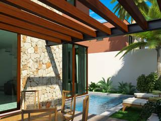 Conjunto de Casas en Xcaret Casas modernas de Segura Arquitectos Moderno