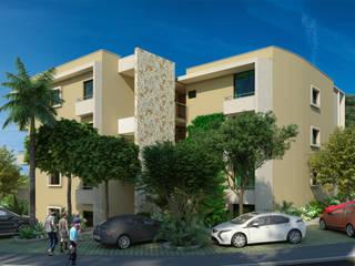 Departamentos en Sirenis Akumal: Casas de estilo moderno por Segura Arquitectos