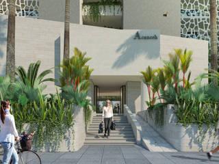 Departamentos en Cancún: Casas de estilo moderno por Segura Arquitectos