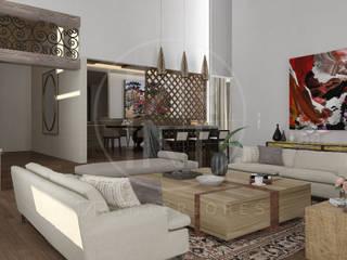 San Isidro, Saltillo: Salas de estilo  por TAR INTERIORES,