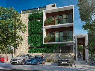 Departamentos en Aldea Zama, Tulum: Casas de estilo moderno por Segura Arquitectos