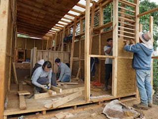 Taller de Teñido tradicional de la Lana: Cabañas de madera de estilo  por Juan Carlos Loyo Arquitectura