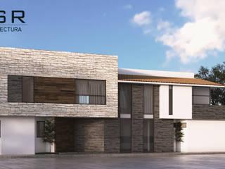 CASA CV: Casas de estilo moderno por CSR ARQUITECTURA