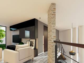 CASA CV Pasillos, vestíbulos y escaleras modernos de CSR ARQUITECTURA Moderno