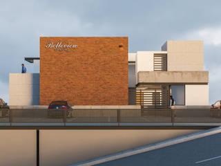 Fachada Principal: Casas de estilo moderno por CSR ARQUITECTURA