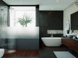 Casa AO: Baños de estilo  por CSR ARQUITECTURA
