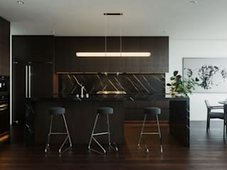 Casa AO: Cocinas de estilo moderno por CSR ARQUITECTURA
