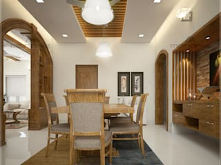 Decorate your dining area with Monnaie... Classic style dining room by Monnaie Architects & Interiors Classic