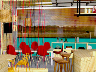 Tropical style offices & stores by arqlar projeto personalizados e preços acessiveis Tropical