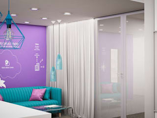 BIURO FCC: styl , w kategorii  zaprojektowany przez Izabela Jurkiewicz Projektowanie Wnętrz