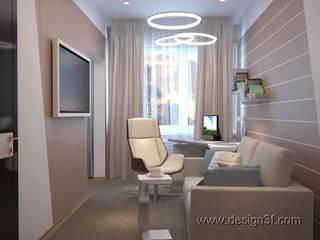 Bureau minimaliste par студия Design3F Minimaliste