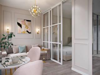 Студия архитектуры и дизайна Дарьи Ельниковой Eclectic style living room