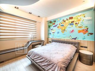王公館:  臥室 by 沐築空間設計