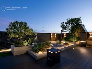 Minimalistischer Balkon, Veranda & Terrasse von 大地工房景觀公司 Minimalistisch