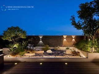 大地工房景觀公司 Balcones y terrazas de estilo minimalista