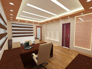 commercial Modern study/office by Design Tales 24 Modern