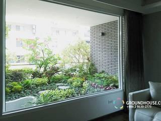 Asiatischer Balkon, Veranda & Terrasse von 大地工房景觀公司 Asiatisch