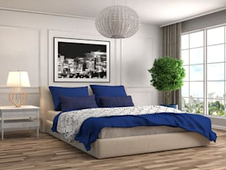 Bedroom Interiors and Design Concepts Asian style bedroom by Loginwood Asian