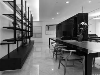 室內設計 東方帝國 SC House:  書房/辦公室 by 黃耀德建築師事務所  Adermark Design Studio