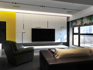 黃耀德建築師事務所 Adermark Design Studio Ruang Keluarga Minimalis