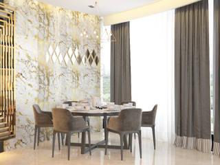 World Towers, Upper Worli:  Dining room by Urbane Storey