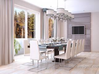Salle à manger minimaliste par студия Design3F Minimaliste