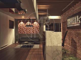 Lobby 1: Pasillos y recibidores de estilo  por TAR INTERIORES