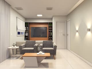 Estúdio j2G| Arquitetura & Engenharia Modern style media rooms Wood Wood effect