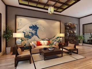 Living room by Công ty Thiết Kế Xây Dựng Song Phát, Asian