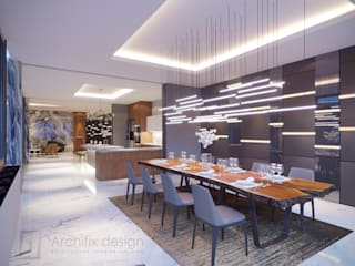 Modern dining room by Archifix Design Modern