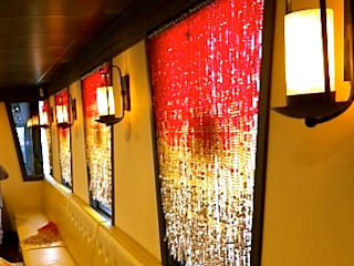 interiors hanging sculpture NEW YORK Restaurant Decor:   by Memories of a Butterfly: bead curtains/screens/installations/Hanging Sculptures