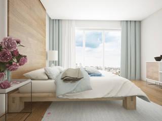 Łóżka drewniane: styl , w kategorii  zaprojektowany przez Salvador Wood Design Sp. z o.o.
