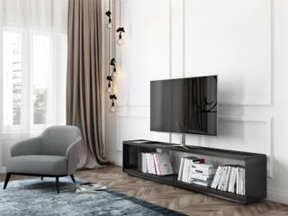 Modern living room by DZINE & CO, Arquitectura e Design de Interiores Modern