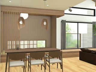 HOUSE UCHIYAMA: Sala da pranzo in stile  di Studio Maiden