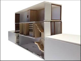 Proyecto de rehabilitación de un local para convertirlo en una vivienda plurifamiliar en Barcelona Y01 house: Casas unifamilares de estilo  de projectelab