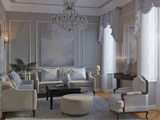 Diseña tu salón al estilo clásico : Salones de estilo  de Glancing EYE - Asesoramiento y decoración en diseños 3D , Clásico