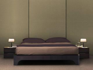 ARCO BED: Camera da letto in stile  di Studio Maiden