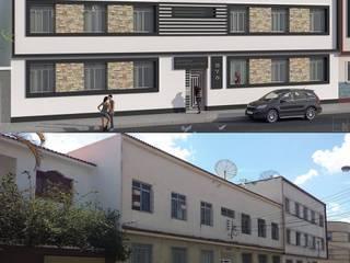 Reforma de Fachada: Condomínios  por Hérica Franco Arquitetura