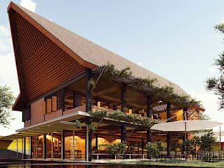 Kaaisungan Sibarrung: Rumah oleh Pr+ Architect, Tropis