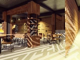 Kaaisungan Sibarrung: Koridor dan lorong oleh Pr+ Architect, Tropis