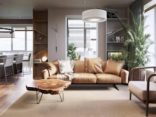 Phòng khách theo Tobi Architects, Tối giản