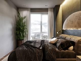 Tobi Architects Camera da letto minimalista Beige