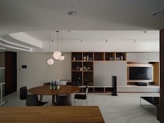 直方設計有限公司 Minimalist living room Marble White
