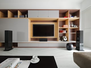 直方設計有限公司 Minimalist living room Wood Wood effect