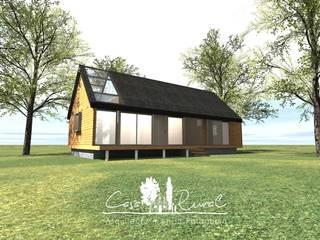 Casas de campo de estilo  por casa rural - Arquitectos en Coyhaique , Rural