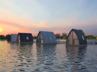 Boathouse Дома в стиле модерн от TAMAGO Модерн
